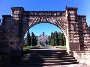 Pioneeers Memorial Park entrance