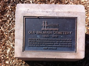 Old Balmain Cemetery 1868 - 1912 RIP to 10608 souls.