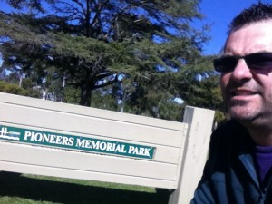 Dave and the pioneers memorial park sign